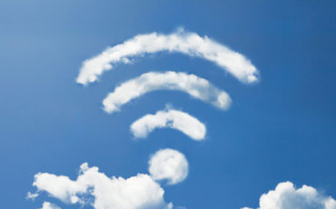 wifi cloud stock image