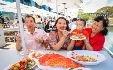 Sydney Fish Markets - 29th January 2018. The Shen family enjoy a traditional Red Fish dish and other seafood delicacies at the Sydney Fish Markets to celebrate Chinese New Year. (Model release: ER20180129-CNY Fish markets -00332.jpg) Photo: Katherine Griffiths / City of Sydney