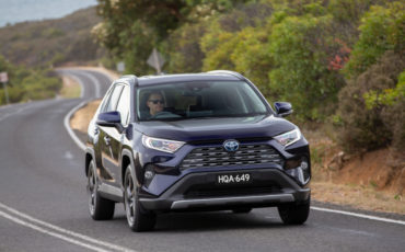 Toyota's pioneering hybrid-electric and other alternative powertrains have helped Toyota remain the world's most valued brand (Hybrid RAV4 Cruiser shown)